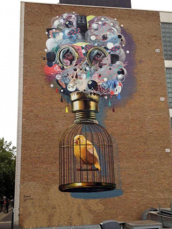 Colin Van Der Sluijs, Super-A, imaginative street art, graffiti art, street artists, urban murals, urban art, mr pilgrim art.