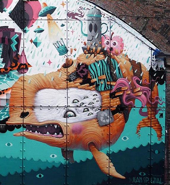 Dulk, imaginative street art, graffiti art, street artists, urban murals, urban art, mr pilgrim art.