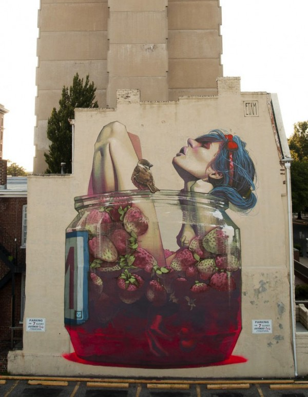 Etam Cru, imaginative street art, graffiti art, street artists, urban murals, urban art, mr pilgrim art.