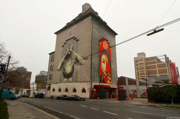 Faith47, Obey, Vienna, best of street art, graffiti, urban art, graffiti art, original street art, Mr Pilgrim, art for sale, freewalls.