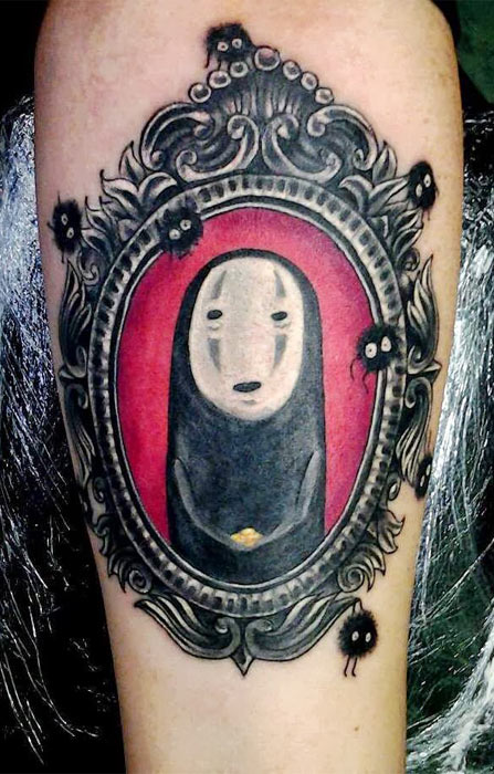 mayazaki, spirited away, geek tattoos, nerd tattoos, geeky tattoos, hot geeks, geek ink, nerd ink.