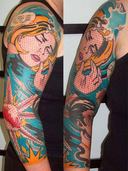 comics, geek tattoos, nerd tattoos, geeky tattoos, hot geeks, geek ink, nerd ink.