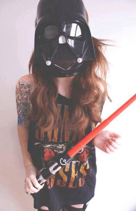 darth vader, star wars, lightsaber, hot nerds, geek tattoos, nerd tattoos, geeky tattoos, hot geeks, geek ink, nerd ink.