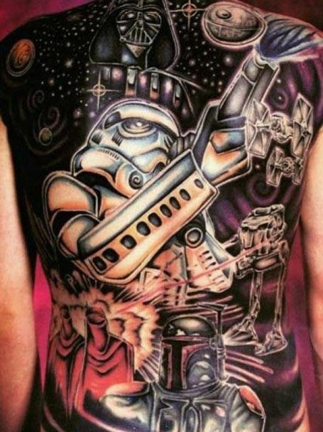 star wars, darth vader, stormtrooper, geek tattoos, nerd tattoos, geeky tattoos, hot geeks, geek ink, nerd ink.