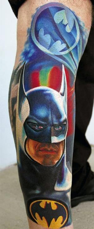 batman, michael keaton, hot nerds, geek tattoos, nerd tattoos, geeky tattoos, hot geeks, geek ink, nerd ink.