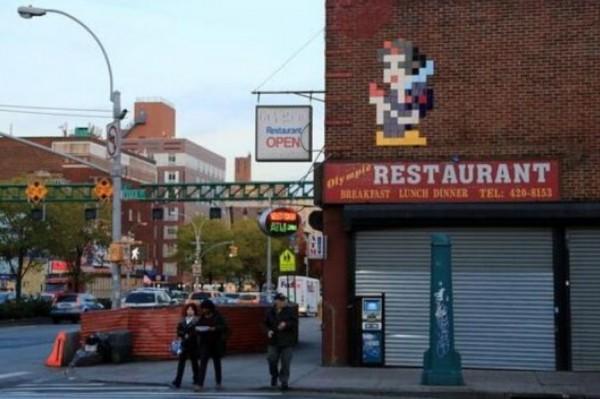 Invader, New York, USA, best of street art, graffiti, urban art, graffiti art, original street art, Mr Pilgrim, art for sale, freewalls.