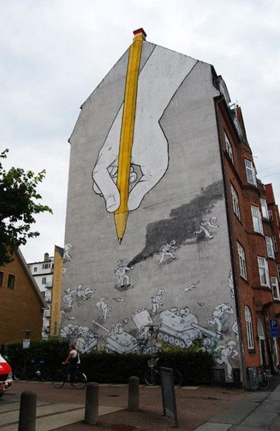 Blu, imaginative street art, graffiti art, street artists, urban murals, urban art, mr pilgrim art.