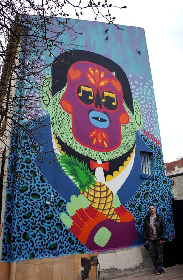 Kashink, imaginative street art, graffiti art, street artists, urban murals, urban art, mr pilgrim art.