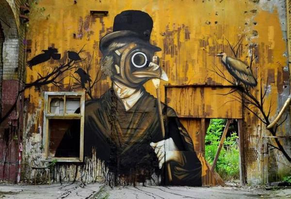 ken, plotbot, imaginative street art, graffiti art, street artists, urban murals, urban art, mr pilgrim art.