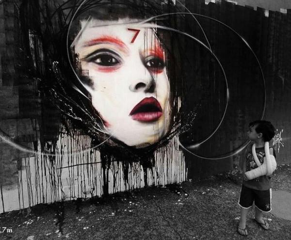 L7M, Brazil, imaginative street art, graffiti art, street artists, urban murals, urban art, mr pilgrim art.