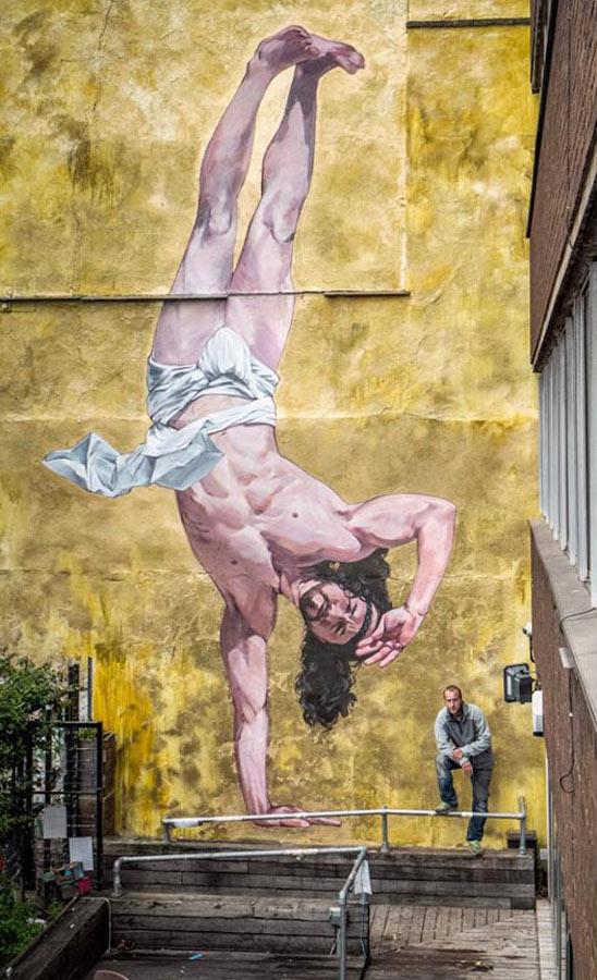 Martin Ron, imaginative street art, graffiti art, street artists, urban murals, urban art, mr pilgrim art.