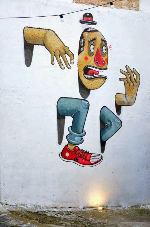 Mr Thoms, Sicily, imaginative street art, graffiti art, street artists, urban murals, urban art, mr pilgrim art.