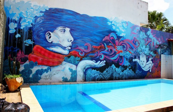 Mural by André Morbeck & Decy, imaginative street art, graffiti art, street artists, urban murals, urban art, mr pilgrim art.