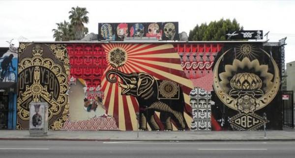 Obey, Shepard Fairey, imaginative street art, graffiti art, street artists, urban murals, urban art, mr pilgrim art.