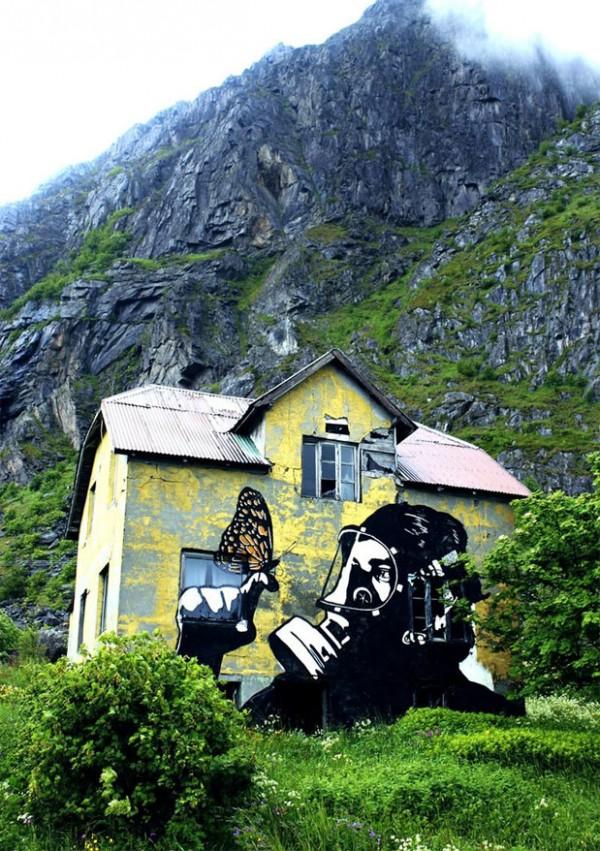 Pobel, Norway, imaginative street art, graffiti art, street artists, urban murals, urban art, mr pilgrim art.
