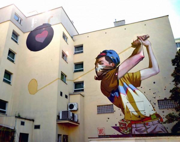Sainer, Gdynia, Poland, imaginative street art, graffiti art, street artists, urban murals, urban art, mr pilgrim art.