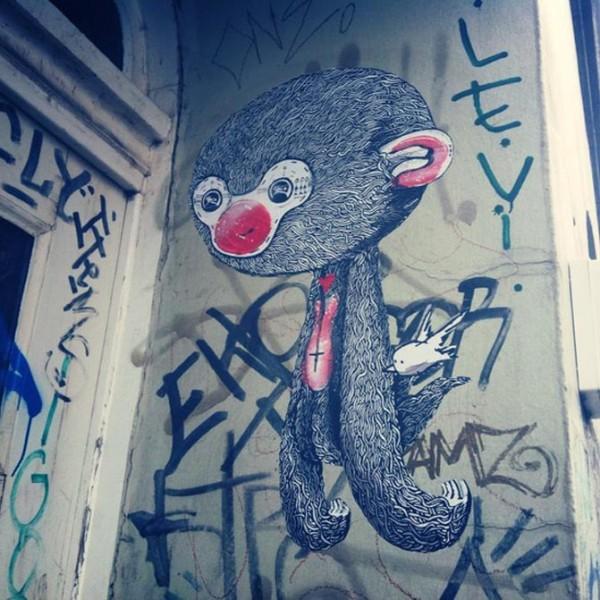 Sam Crew, imaginative street art, graffiti art, street artists, urban murals, urban art, mr pilgrim art.
