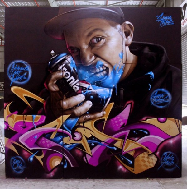 Smug, imaginative street art, graffiti art, street artists, urban murals, urban art, mr pilgrim art.