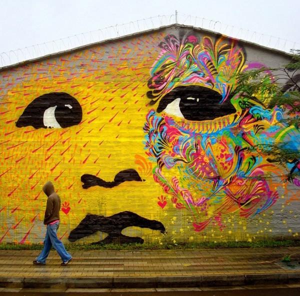 Stinkfish, imaginative street art, graffiti art, street artists, urban murals, urban art, mr pilgrim art.