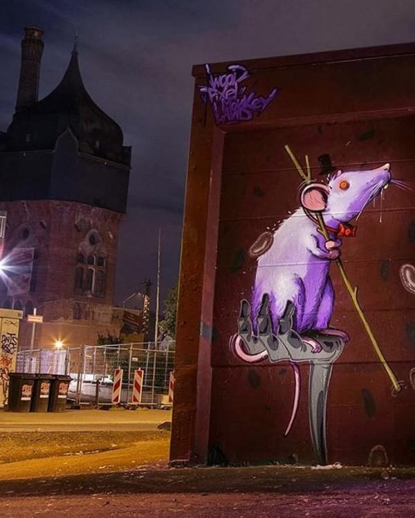 Wood, Pixel, Monkey, Land, street art, graffiti art, street artists, urban murals, urban art, mr pilgrim art.
