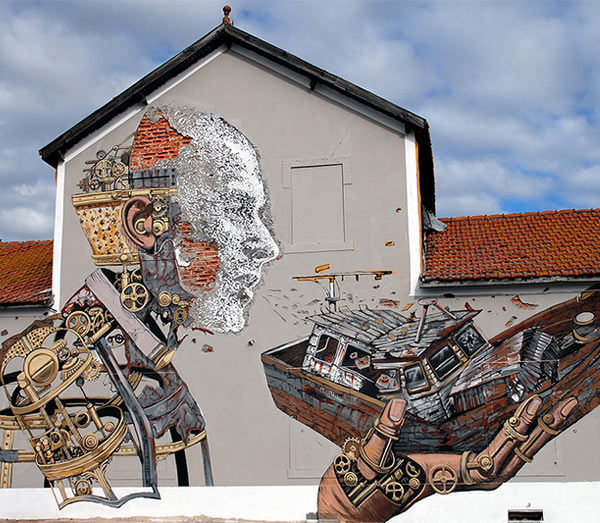 Pixel Pancho and Vhils in Lisbon, Portugal