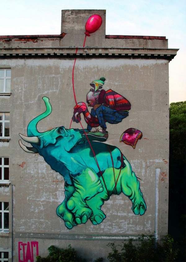 Lodz, Poland, Etam Cru, street art, graffiti art, street artists, urban murals, urban art, mr pilgrim art.