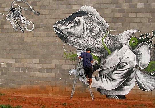 Claudio Ethos, unique street art, great street artists, free walls, graffiti art.