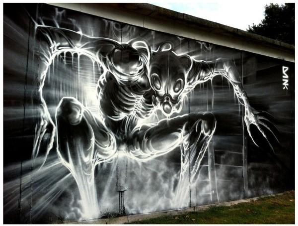 Dank, unique street art, great street artists, free walls, graffiti art.