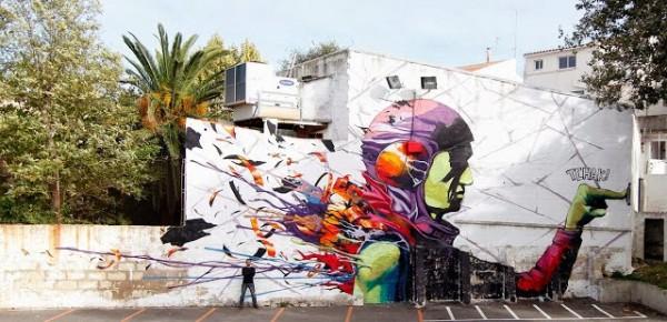 Deih, Menorca, Spain, world's best street art, urban art, graffiti artists, street artists, free walls, wall murals.