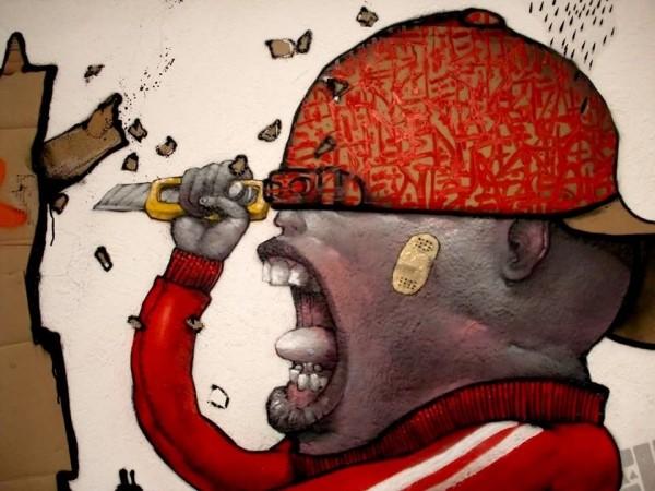 Dran, unique street art, great street artists, free walls, graffiti art.