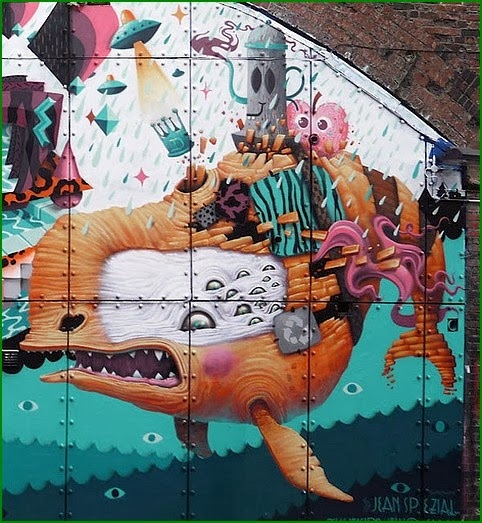 Dulk, unique street art, great street artists, free walls, graffiti art.