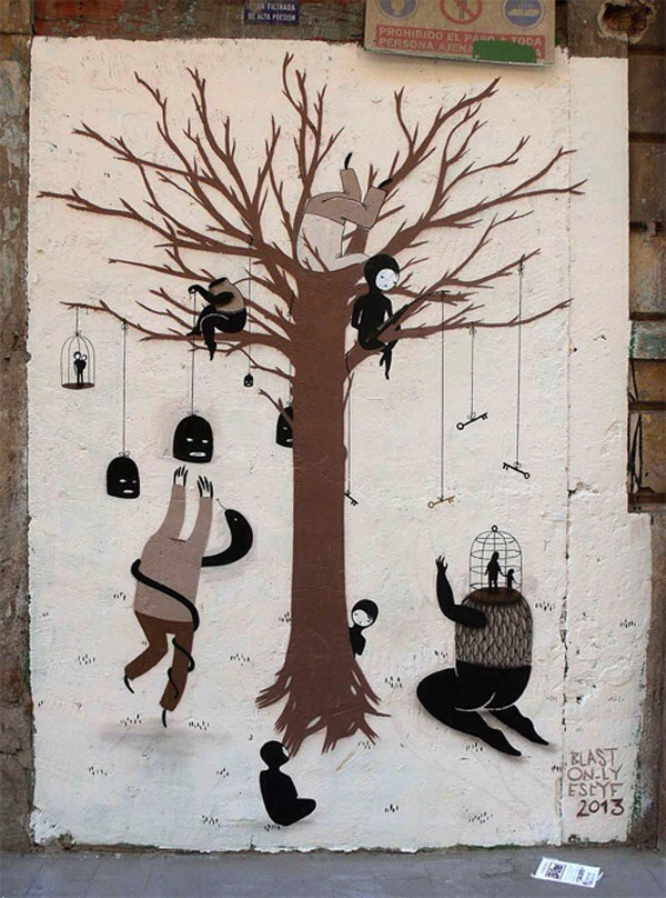 Escif, street art, great street artists, free walls, graffiti art.