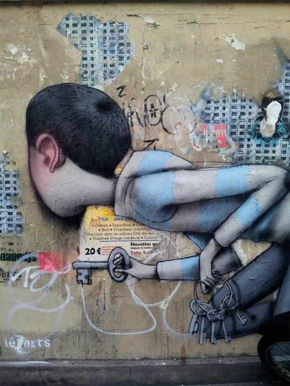 Seth, unique street art, great street artists, free walls, graffiti art.