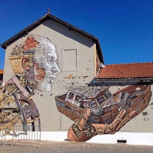 Vhils, Pixel Pancho, Portugal