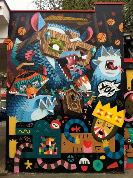 NERD, LOW BROS, unique street art, great street artists, free walls, graffiti art.