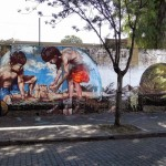 Castles In The Sand - Street art in Buenos Aires, Argentina by Fintan Magee and Martin Ron