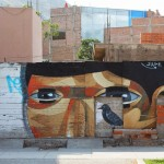 Lima, Peru by Peruvian street artist JADE - The Host