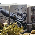 Street art in Nelson, New Zealand by Belgian street artist ROA