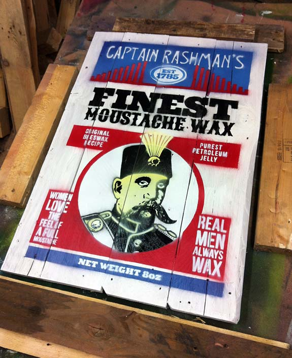 Mr Pilgrim Urban Artist - Moustache Wax 05