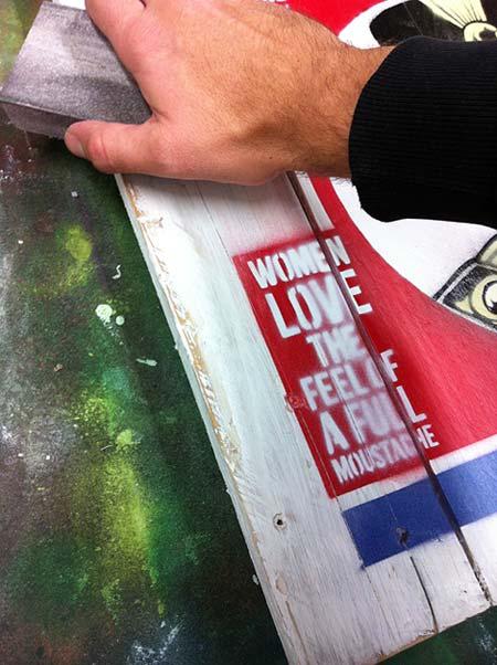 mr pilgrim, vintage art for sale, vintage style, stencil art, buy art online, original art, urban artist.
