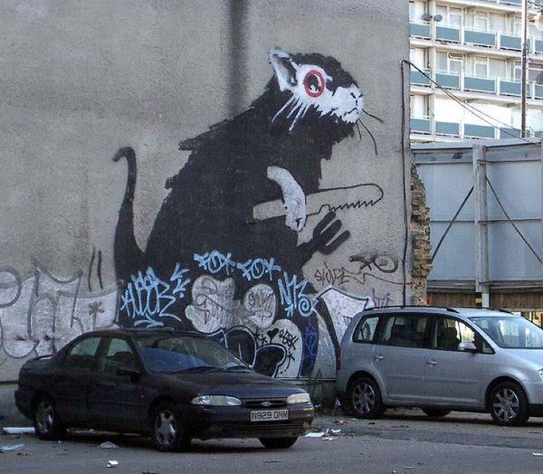 Banksy street art in the UK | explore street art of the world