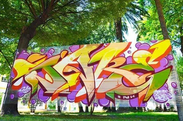 Cellophane plastic graffiti art by SAKE | explore street art of the world