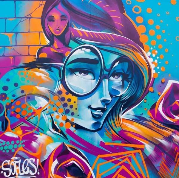 Close up of work by Sofles | stunning urban art, graffiti art, street art