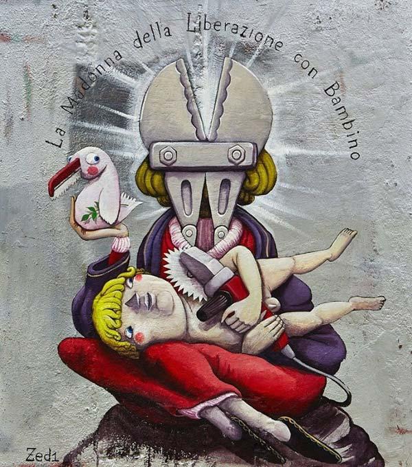 Close up of work by Zed1 | stunning urban art, graffiti art, street art