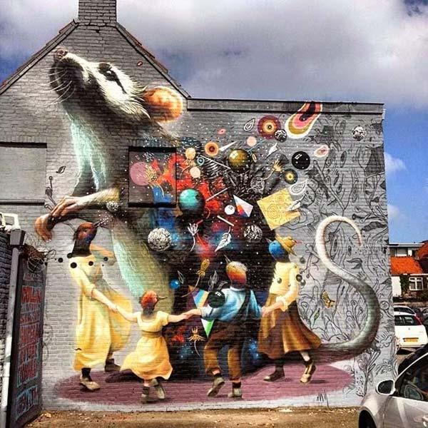 Collin Van Der Sluijs, Super-A & Rutger Termohlen in Breda, Netherlands | explore street art of the world
