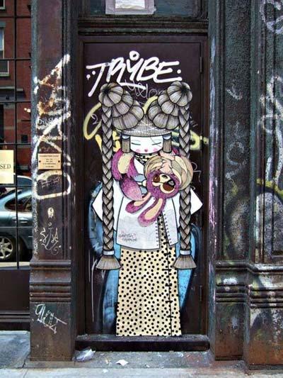 Cool street art by Koralie | explore street art of the world