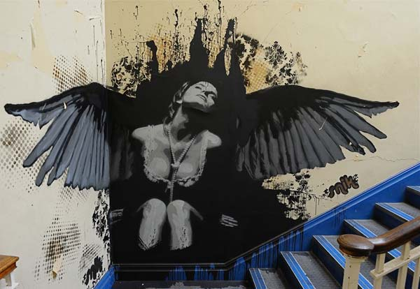 Cool street art in the UK by Snik | explore street art of the world