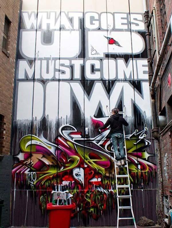 Cool work by Does in Melbourne, Australia | stunning urban art, graffiti art, street art