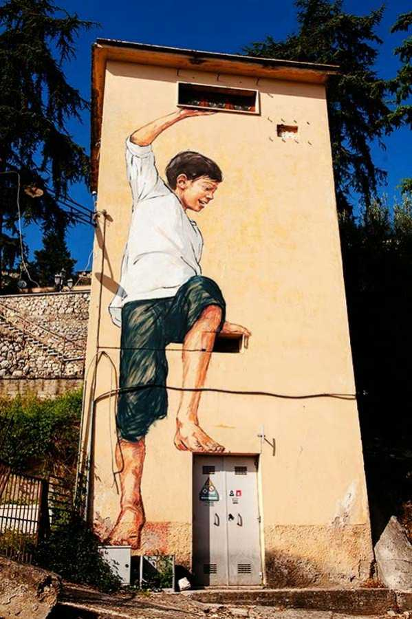 Ernest Zacharevic in Italy