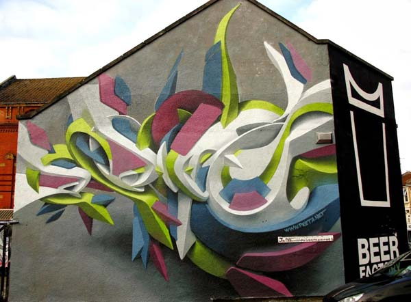 Graffiti art by Peeta in the UK | stunning urban art, graffiti art, street art